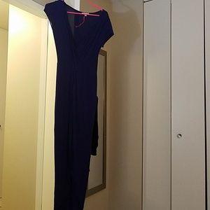 Skin tight dark blue/purple dress